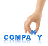 Hand and word Company Royalty Free Stock Images