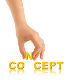 Hand and word Concept Royalty Free Stock Photo