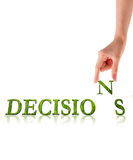 Hand and word Decision, business concept Stock Photography
