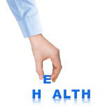 Hand and word Health Royalty Free Stock Images