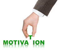 Hand and word Motivation Royalty Free Stock Images