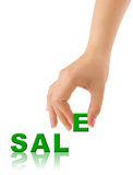 Hand and word Sale Stock Photos