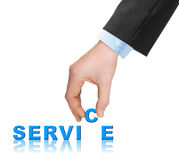 Hand and word Service Royalty Free Stock Photos