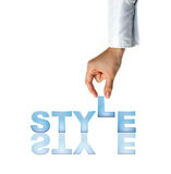Hand and word Style Stock Photography
