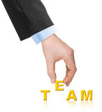 Hand and word Team Stock Image