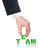 Hand and word Team Stock Photography