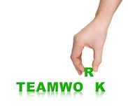 Hand and word Teamwork stock photography