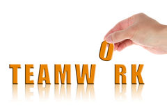 Hand and word Teamwork Royalty Free Stock Photo