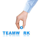 Hand and word Teamwork Royalty Free Stock Image