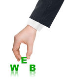 Hand and word WEB Royalty Free Stock Photos