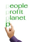 People, profit, planet Royalty Free Stock Images