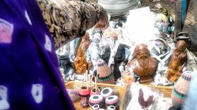 Hand work. Bolpur shantiniketan mela in India Stock Images