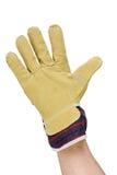 Hand with work glove Stock Photo