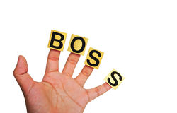 Hand, work hard for boss. This hand, work hard for boss Royalty Free Stock Photography