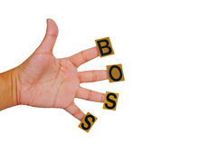 Hand, work hard for boss. This hand, work hard for boss Stock Photos