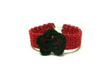 Hand worked crocheted bracelet Royalty Free Stock Image