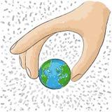hand world Royaltyfri Bild