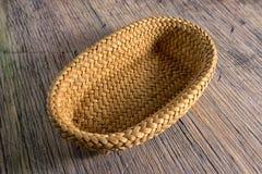 Hand woven basket in Ecuador Stock Photo