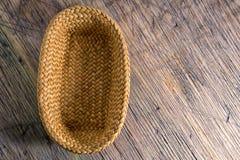 Hand woven basket Stock Image