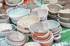 Hand Woven Baskets Stock Photos