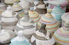 Hand Woven Baskets Royalty Free Stock Photos