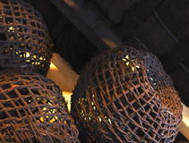 Hand Woven Baskets Stock Image
