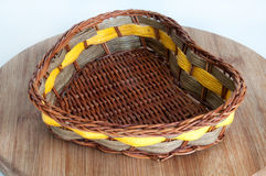 Hand-woven baskets made of wood Royalty Free Stock Images