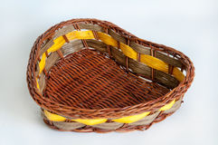 Hand-woven baskets made of wood Royalty Free Stock Photos