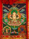 Hand Woven Bhutan Tapestry Royalty Free Stock Photo