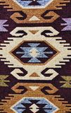 Hand woven carpet pattern Stock Image