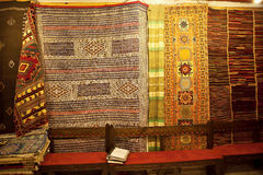 Hand-woven carpets, Morocco Royalty Free Stock Photography