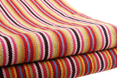 Hand-woven cloth. Chinese traditional hand-woven cloth with lines on white Royalty Free Stock Photo