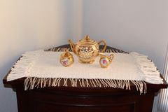 Hand woven cotton rug Stock Image