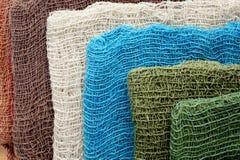 Hand woven fabrics. For clothing Royalty Free Stock Photos