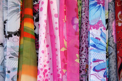 Hand woven fabrics. For clothing Stock Photos