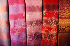 Hand woven fabrics. For clothing Royalty Free Stock Photo