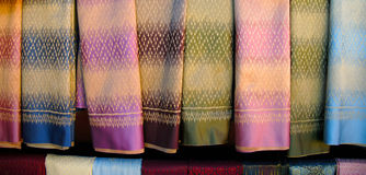 Hand woven fabrics. For clothing Stock Image