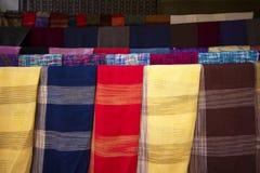 Hand woven fabrics II Royalty Free Stock Photos