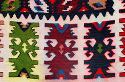 Hand woven kilim pattern Royalty Free Stock Photos
