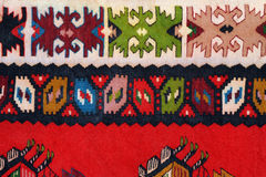Hand woven kilim pattern Stock Photos