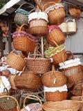 Hand-woven manden Stock Fotografie