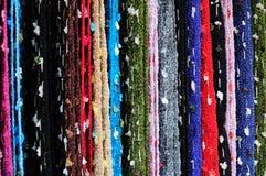 Hand-woven Seide stockbilder