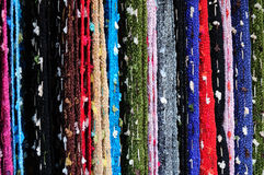 Hand-woven silk Stock Images