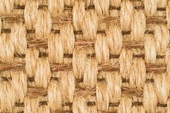 Hand Woven Sisal Rug Detail. Hand Tied Intricate Pattern Woven Knotted Sisal and Sea Grass Rug Detail royalty free stock photo