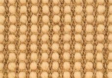Hand Woven Sisal Rug Detail. Hand Tied Intricate Pattern Woven Knotted Sisal and Sea Grass Rug Detail stock photos