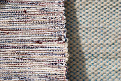 Hand woven textile background Stock Photo