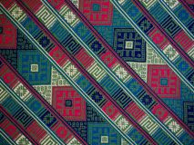 Free Hand Woven Textile Background, Bhutan Stock Image - 119703431