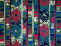 Hand woven textile background, Bhutan Stock Photo