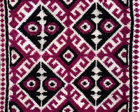 Hand woven textile background, Pakistan Stock Image