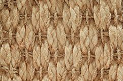 Hand Woven / Tied Rug Detail. Close up of Hand Woven / Tied Rug Detail, Patterned Sisal, Hemp Background Texture stock photos